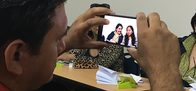 Taller periodismo movil Bolivia